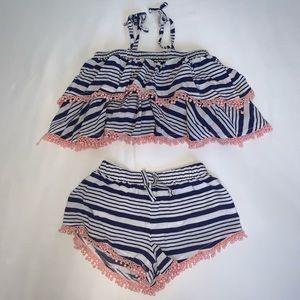 Jessica Simpson stripe  Outfit
